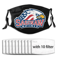 Saginaw Spirit face mask & covers with filters