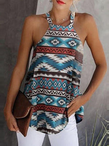 Summer Tops Women's Loose Printed Small Vest Strap T-shirt