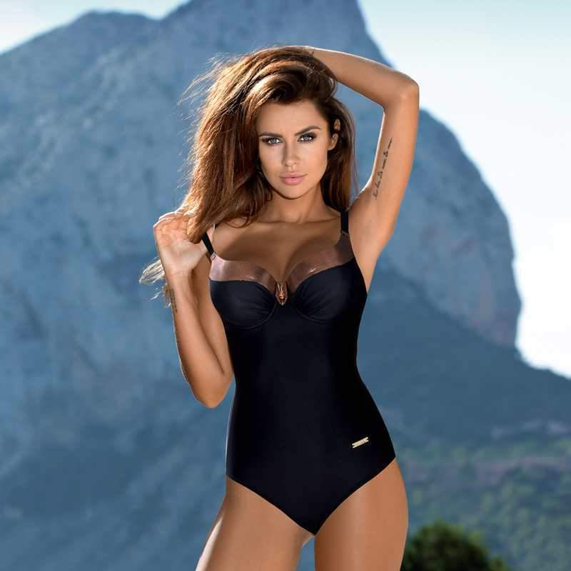 Siamese Women's Triangle Swimsuit Large Size Contrast