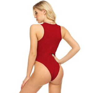 Solid Color Spring Jumpsuit Women's One Piece Swimwear Solid-color V-neck Vest Jumpsuit Women