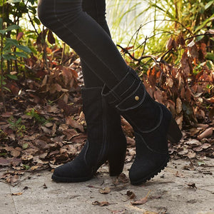 High-heeled Denim Medium-length Women's Boots
