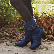 Load image into Gallery viewer, High-heeled Denim Medium-length Women's Boots