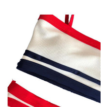Load image into Gallery viewer, One-shoulder Swimsuit Split Striped Bikini