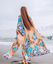 Load image into Gallery viewer, cotton print holiday sunscreens cardigan beach jacket bikini bathing suit beach blouse