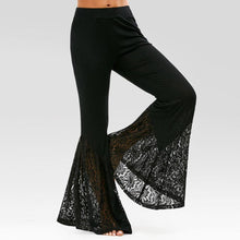 Load image into Gallery viewer, Women's Knitting Lace Flare Pants