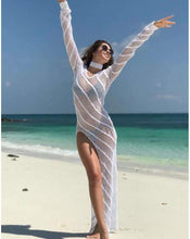 Load image into Gallery viewer, New Beach Long Skirt Hollow Bikini Blouse