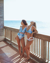 Load image into Gallery viewer, New Multicolor Printed Hollow One-piece Swimsuit