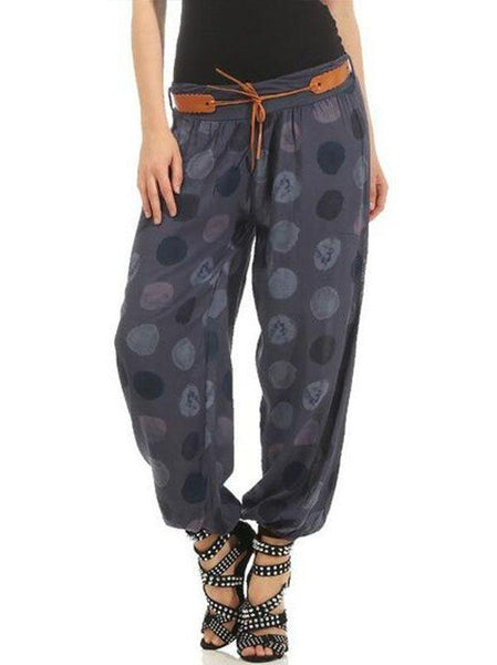 Women's Casual Wear Polka Dot Print Trousers Baggy Pants