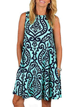 Load image into Gallery viewer, Boho Printed Sleeveless Pullover Dress
