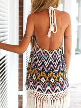 Load image into Gallery viewer, Diamond Print Halter Sexy Halter Dress