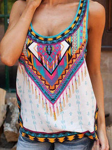 Summer fashion sling print vest ladies