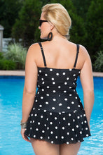 Load image into Gallery viewer, Plus Size Wave Print Swimsuit