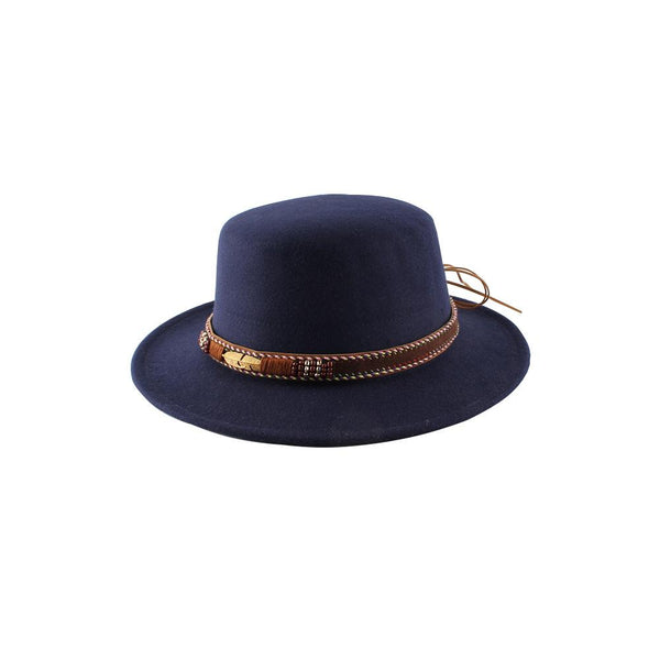 New Autumn and Winter Metal Feather Ethnic Retro Felt Hat