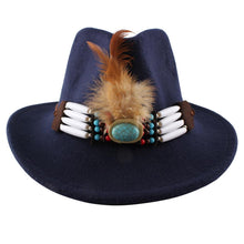 Load image into Gallery viewer, New Style Female Fashion British Bazz Feather Top Hat