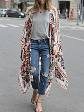 Load image into Gallery viewer, Bohemian Floral Printed Long Large Shawl Capes Coat