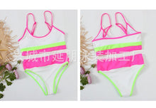 Load image into Gallery viewer, Split Solid Two Shoulder Bikini Women's Sexy Color Matching Swimsuit