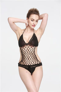 Sexy Crochet Mesh Swimsuit Suit Handmade One Piece