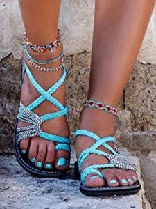 Beach Flat Sandal Shoes For Women