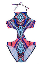 Load image into Gallery viewer, New European and American Colorful Bikini One-piece Swimsuit