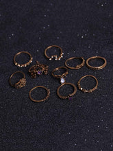 Load image into Gallery viewer, 10Pcs Vintage Crown Rings Accessories