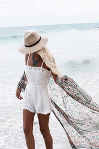 Printed Chiffon Loose Long Section Swimwear Beach Bikini Cover Up