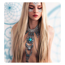 Load image into Gallery viewer, Sexy Boho Statement Turquoise Necklace Body Chains