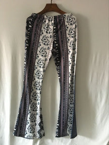 Sexy Snake Pattern Bell-bottoms Casual Pants
