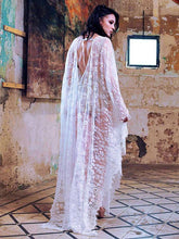 Load image into Gallery viewer, Deep V-neck Backless Lace-up See-through Cover-ups
