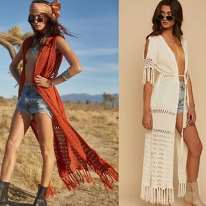 Bohemian Beach Holiday Knitting Hollow Cover-Up
