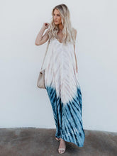 Load image into Gallery viewer, Spaghetti Strap Print Beach Maxi Long Dress