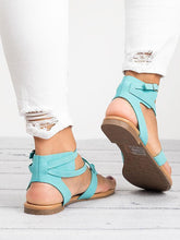 Load image into Gallery viewer, 2018 Summer Bandage Beach Flat Sandals For Women