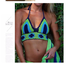 Load image into Gallery viewer, New Knitted Sexy Split Swimwear