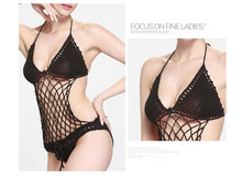 Load image into Gallery viewer, Sexy Crochet Mesh Swimsuit Suit Handmade One Piece
