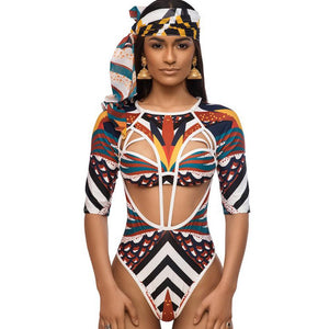 Digital Printed Sexy Totem One-piece Swimsuit