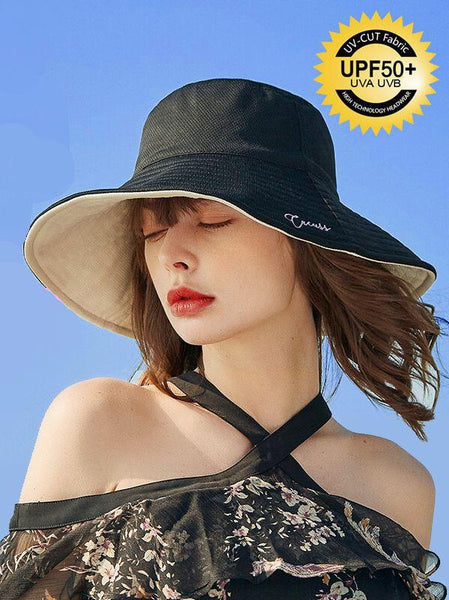 Women's Summer Double-sided Wearing A Big Hat