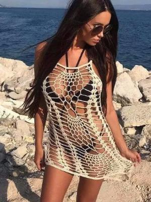 2018 Beach new Style Beach blouse lace harness knit blouse