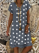 Load image into Gallery viewer, Boho Women Polka Dot Print Short Sleeve V-neck Fashion Dresses