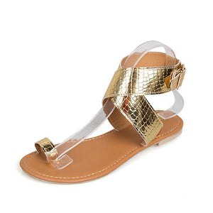 Boho Summer Bandage Sequin Sandals