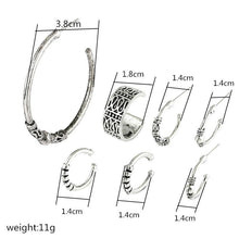 Load image into Gallery viewer, Bohemian Style Color Earring Set Punk Style Vintage Hoop Earrings Ear Clip For Women 7 Pcs Set