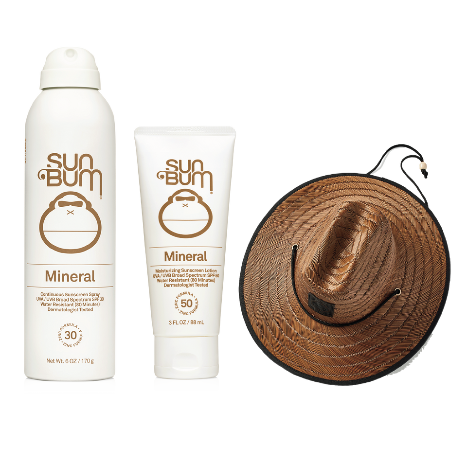 Beach Covered (Mineral Lotion + Mineral Spray + 50% Off Sun Bum Hat)