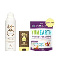 Sun & Snacks - Mineral Spray + Face Stick 30 SPF + Free YumEarth Fruit Snacks