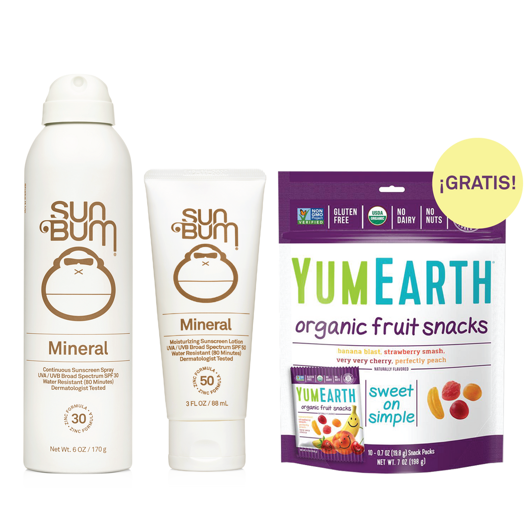 Beach Picnic - MINERAL LOTION + MINERAL SPRAY + FREE YumEarth Fruit Snacks