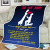 TO Wife-Special To Me-Fleece Blanket Holiday Gift