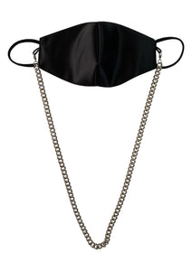 SATIN CHAIN MASK - NOIR