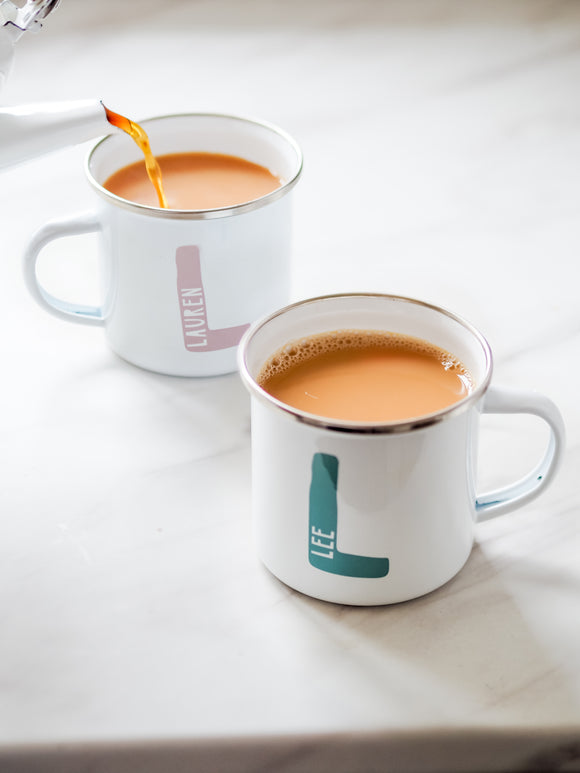 Personalised initial name camping cup