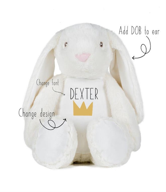Personalised bunny toy