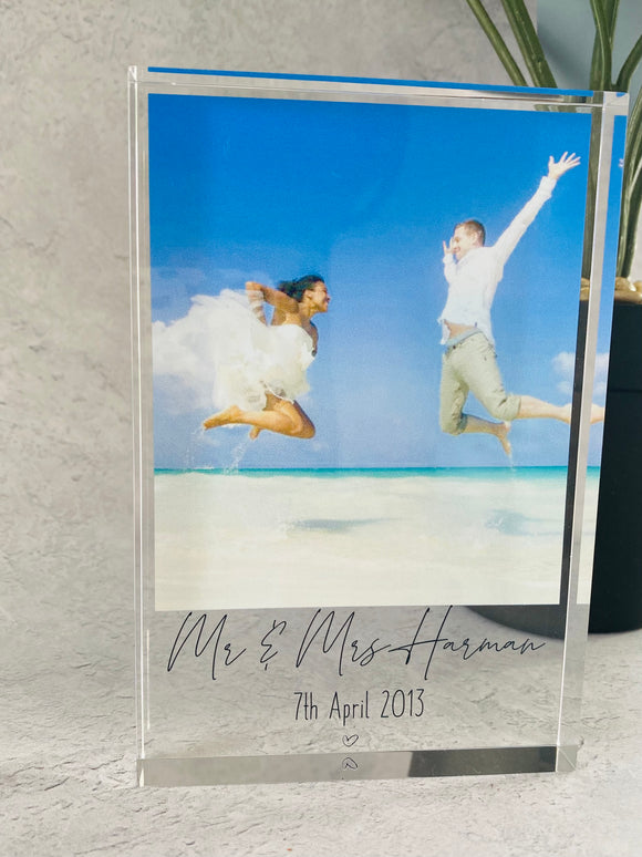Personalised Photo acrylic block