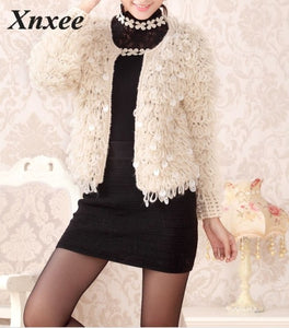 Glitter sequin sexy long sleeve sweater korean women sweaters and pullovers sweter