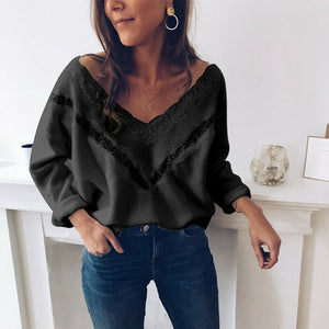 New Women Autumn V Neck Sweater Jacket Coat 2019 Fashion Loose Knit Female Sweater Ladies Chaqueta Mujer