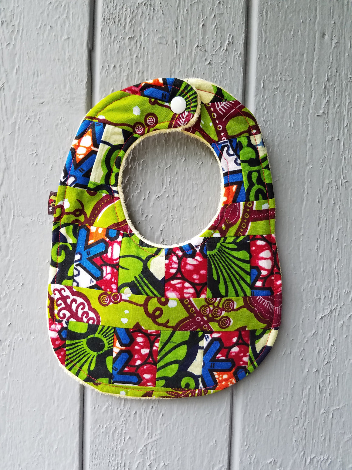 African Garden Baby Bib and Burp Cloth Set